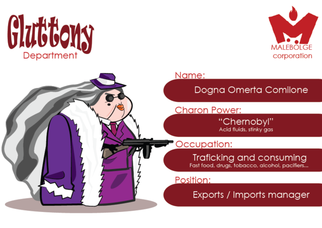 Concept Art - Head of Gluttony Department: Dogna Omerta Comilone