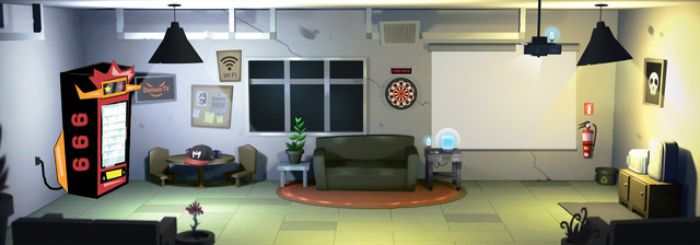 Empty staff room