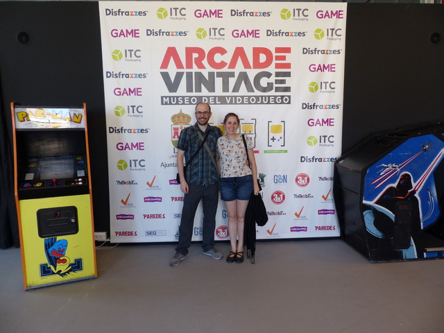 Nicolás and María at the Arcade Vintage Museum
