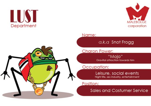 Concept Art - Jefe del Departamento de la Lujuria: Snot Frogg